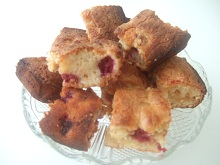 Almond & Raspberry Blondies
