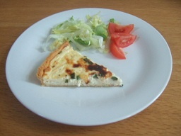 Cheese and Chive Quiche